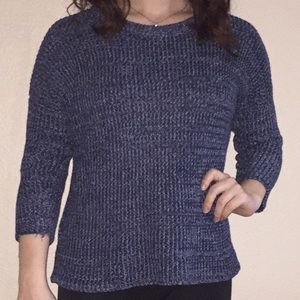 SONOMA small blue knit sweater, FALL sweater 🍁